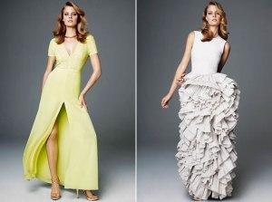 """Dois vestidos da coleção sustentável da H&M """"Exclusive Conscious Glamour Collection"""""""